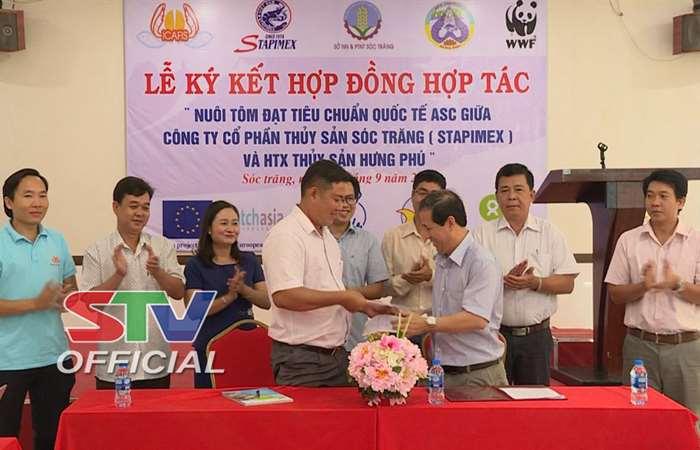 Sóc Trăng: Lễ ký kết hợp đồng nuôi tôm đạt chuẩn Quốc tế ASC